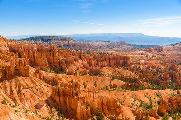 Deurstickers Canyon Scenic view of beautiful red rock hoodoos and the Amphitheater from Sunset Point, Bryce Canyon National Park, Utah, United States