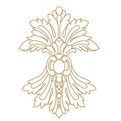 Vintage baroque ornament, corner. Retro pattern antique style acanthus. Decorative design element filigree calligraphy vector. - stock vector