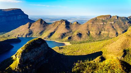 Blyde River Dam in the Blyde River Canyon Reserve along the Panorama Route in Mpumalanga Province of South Africa