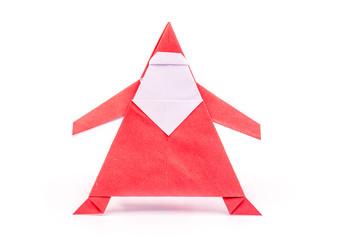 Santa claus paper origami craft