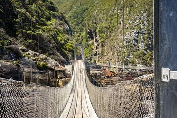 Tsitsikamma storms river suspension bridge