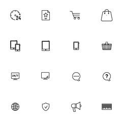 E-commerce vector collection icon set