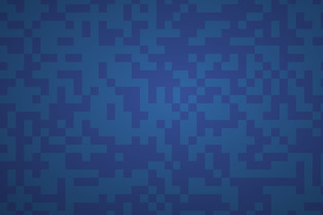 Navy blue color abstract background. Rectangular pixel camouflage