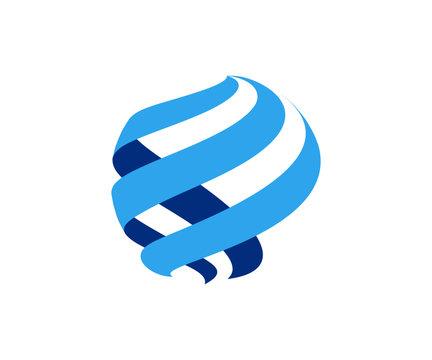 globe abstract logo icon vector