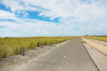 Bicycle trail in Holland