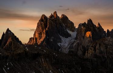 Dolomites mountain sunrise