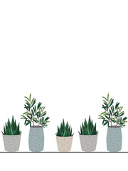 illustration - a potted plant