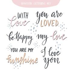 Romantic lettering set