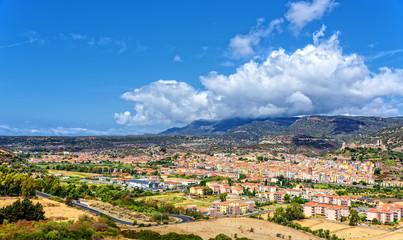 Bosa Stadt Sardinien Insel  Landschaft