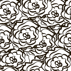 seamless pattern with flowers on a colored background, vector illustration