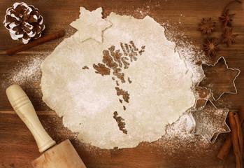 Cookie dough cut as the shape of Faroe Islands (series)