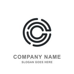 C Letter Black Round Logo