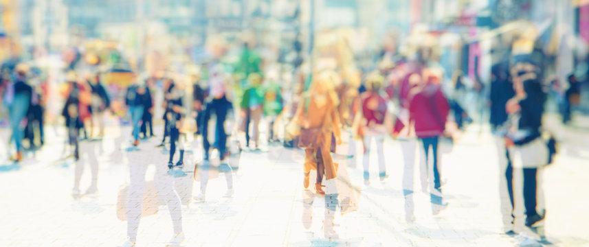Silhouette of people walking on the street of big city shopping day, big crowd of people walking  abstraheraabstraktdjupsinnigknyckanallareferatsammandragsammanfattasammanfattningskiljasnostjälasvårfa
