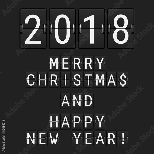 """""""Vector Analog Flip Numbers 2018 and Flip Letters Merry ..."""