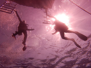 Deurstickers Aquarel Gezicht Diving