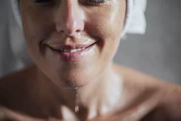 Woman With Wet Face
