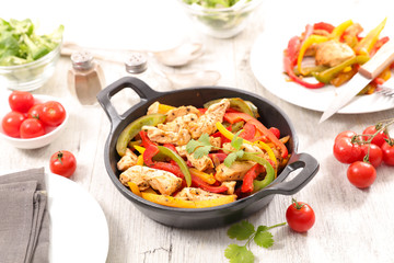 grilled bell pepper with chicken