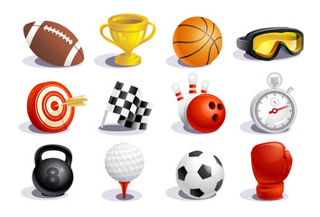 Sport symbols and icons vector set