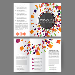 Color tri fold business brochure