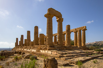 Temple of Juno in the Valley of the Temples, Agrigento, Italy