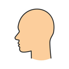 Human's head color icon