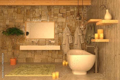 Bagno Romantico Foto : Vasca da bagno piena d acqua e petali di rosa preparati per un