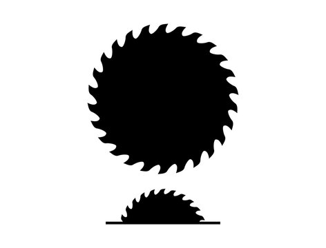Various Machine Saw and Circle Chainsaw Construction Tool Silhouette