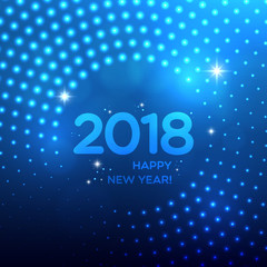 Happy New Year 2018 abstract light background