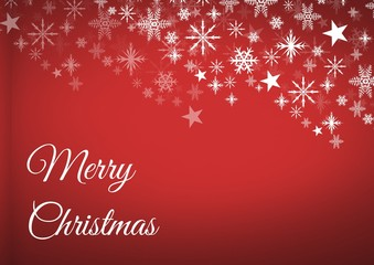 Merry Christmas text and Snowflake Christmas pattern with blank