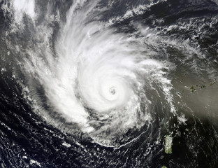 Typhoon over planet Earth. Elements of this image furnished by NASA.