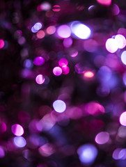 Close Up Festive Tinsel In Vibrant Colors