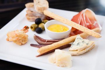 Tapas platter with ham