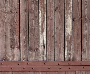 The texture of weathered wooden wall