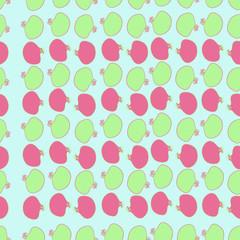 Pomegranate seamless  pattern, stamens. Hand drawn.