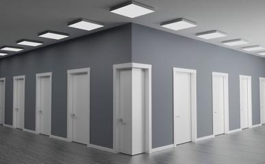Door in the corner of the wall