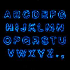Blue Fire Font