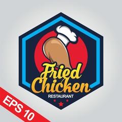 Fried chicken logo