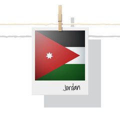 Asian country flag collection with photo of Jordan flag , vector , illustration