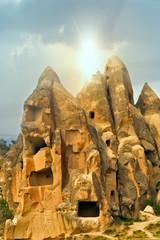 Goreme National Park, Cave towns. Cappadocia, Turkey
