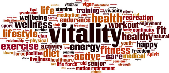 Vitality word cloud
