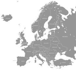 Vector Grey Europe Map