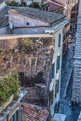 Narrow street in downtown Rome