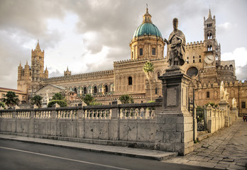 Aluminium Prints Palermo Cathedral of Palermo, in the heart of the city