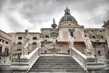 Pretoria's square, in the heard of Palermo city