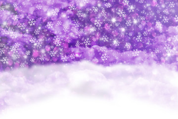 Christmas background with snowfall