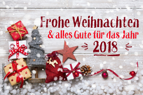 Frohe Weihnachten Shabby.Frohe Weihnachten Grusskarte Stock Photo And Royalty Free