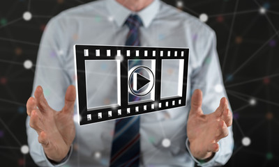 Concept of movies, video and cinema
