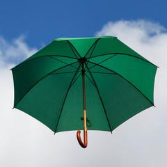 Green Umbrella in the Sky