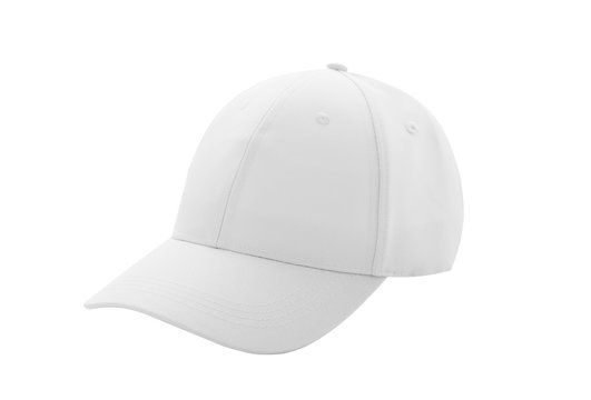 Baseball cap white templates, front views isolated on white background. Mockup
