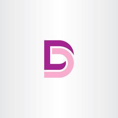 Fototapeta d logo pink purple icon vector symbol obraz